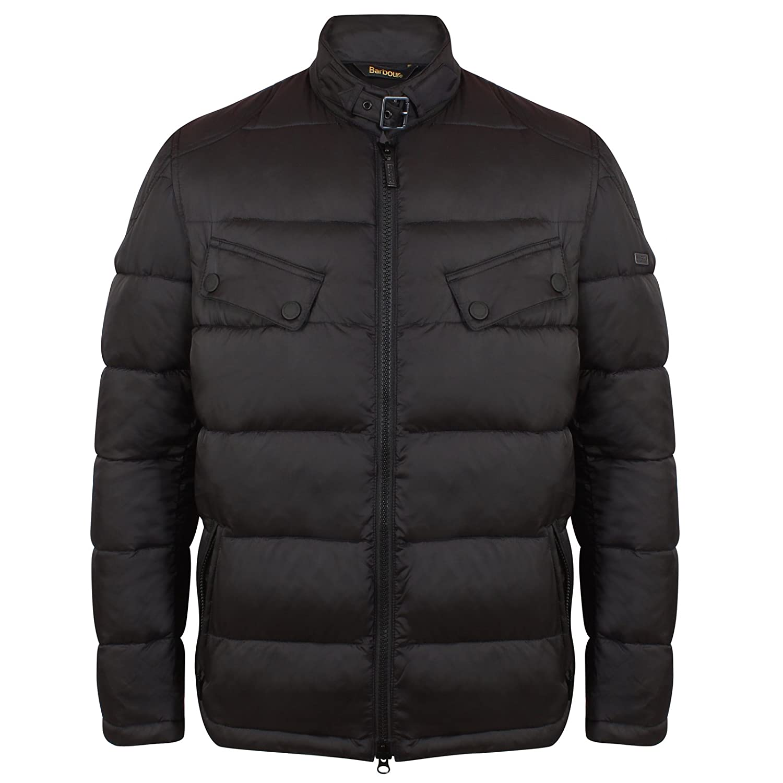 Men's Barbour International Handle Quilted Jacket MQU0790 In Black