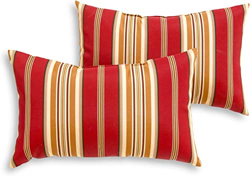 South Pine Porch AM5811S2-ROMASTRIPE Roma Stripe Outdoor 19 x 12-inch Rectangle Accent Pillow