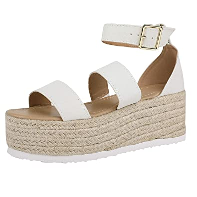 44254901226 Amazon.com | Ermonn Womens Platform Espadrilles Strappy Open Toe ...