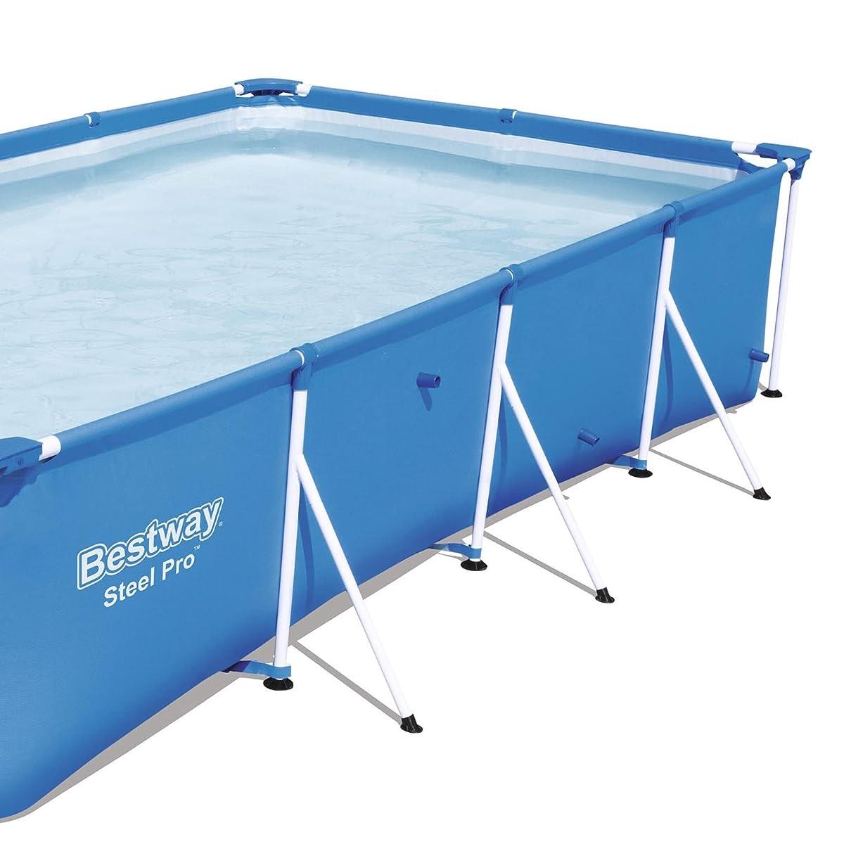 Bestway Steel Pro 157 x 83 x 32 Rectangular Frame Above Ground Swimming Pool