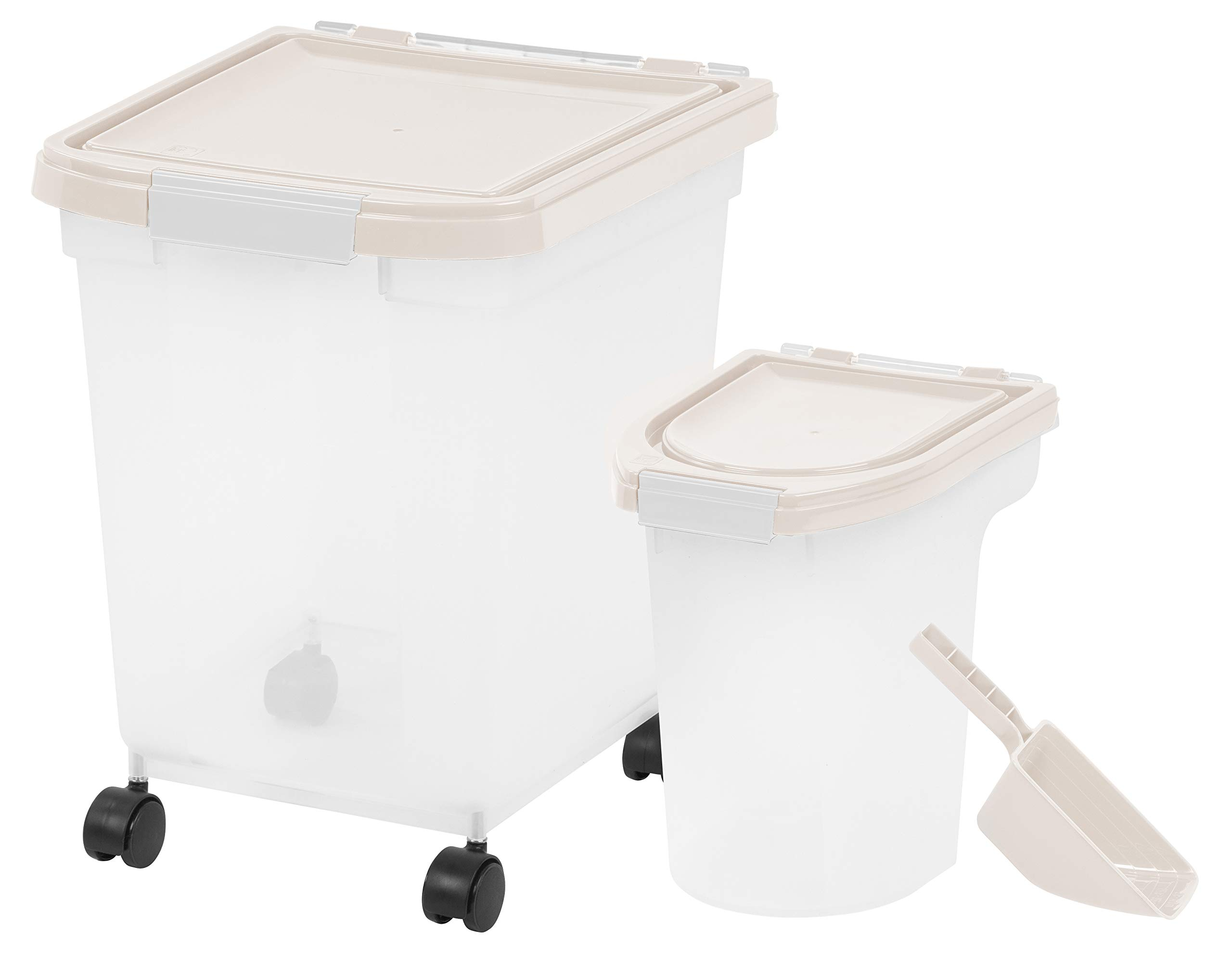 Inspired Essentials 3Piece Airtight Plastic Pet Food Storage Container Combo with Scoop