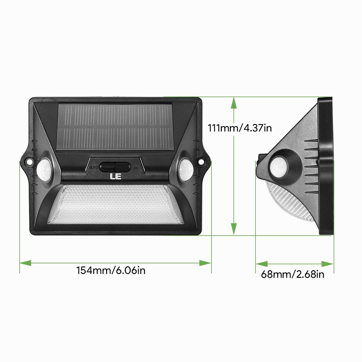 RGB Farbwechsel LED Solarleuchte Garten LE Solarlampe f/ür Au/ßen mit Bewegungsmelder IP65 Wasserdicht Mehrfarbig Sicherheitswandleuchte