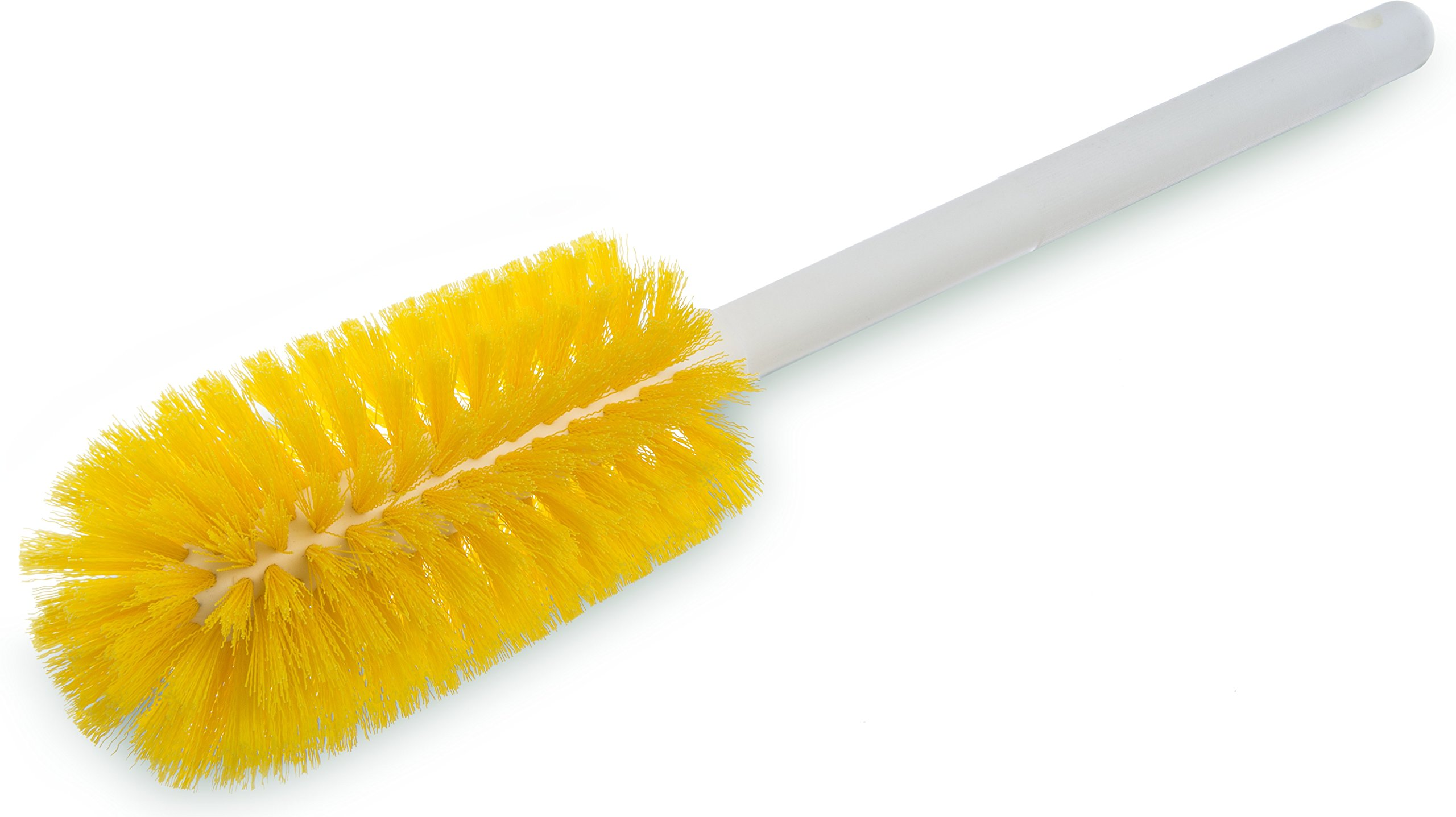 Carlisle 4000104 Sparta Commercial Quality Bottle Brush, 16'' Long, Yellow (Pack of 12)