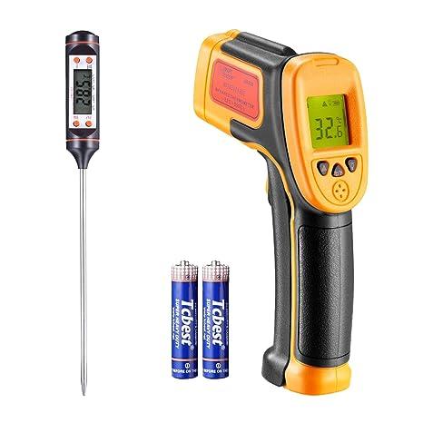 Infrarot thermometer, für Kochen/Luft/Kühlschrank, -26 ° F ~ -222 ° F (-32 ° C ~ 550 ° C), Digital-IR-Laser-Thermometer-Tempe