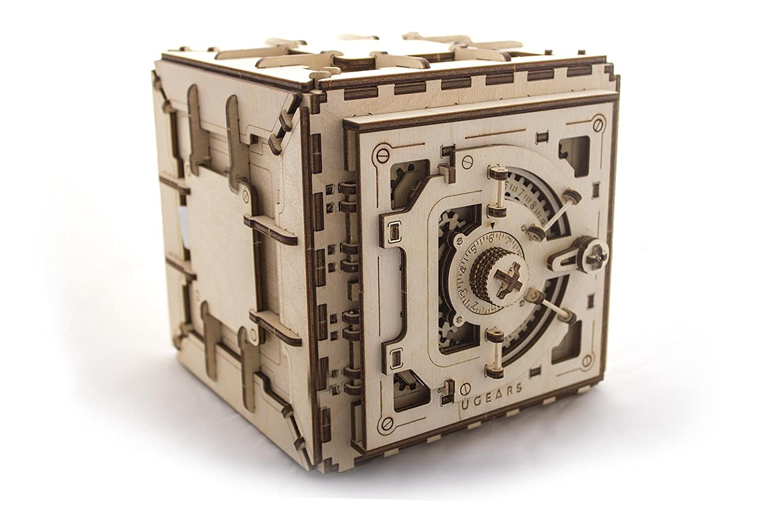 Model Safe Kit | 3D Wooden Puzzle | DIY Mechanical Safe Ugears Ugears 70011