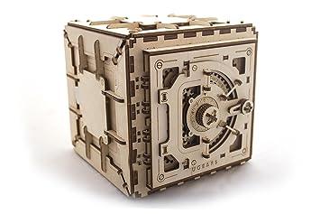 Kit de Construction en Bois 3D sans Colle boîte Ugears 70031Boîte aux trésors