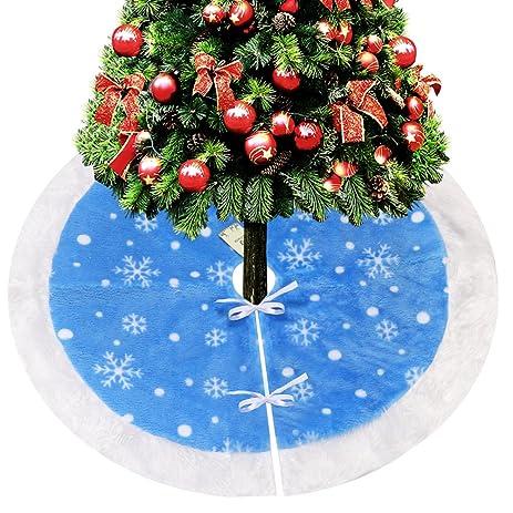 Amazon Com D FantiX 37 Inch Traditional Velvet Christmas Tree  - Blue Christmas Tree Skirt