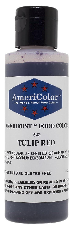 AmeriColor Tulip Red AmeriMist Airbrush Food Color, 4.5 oz