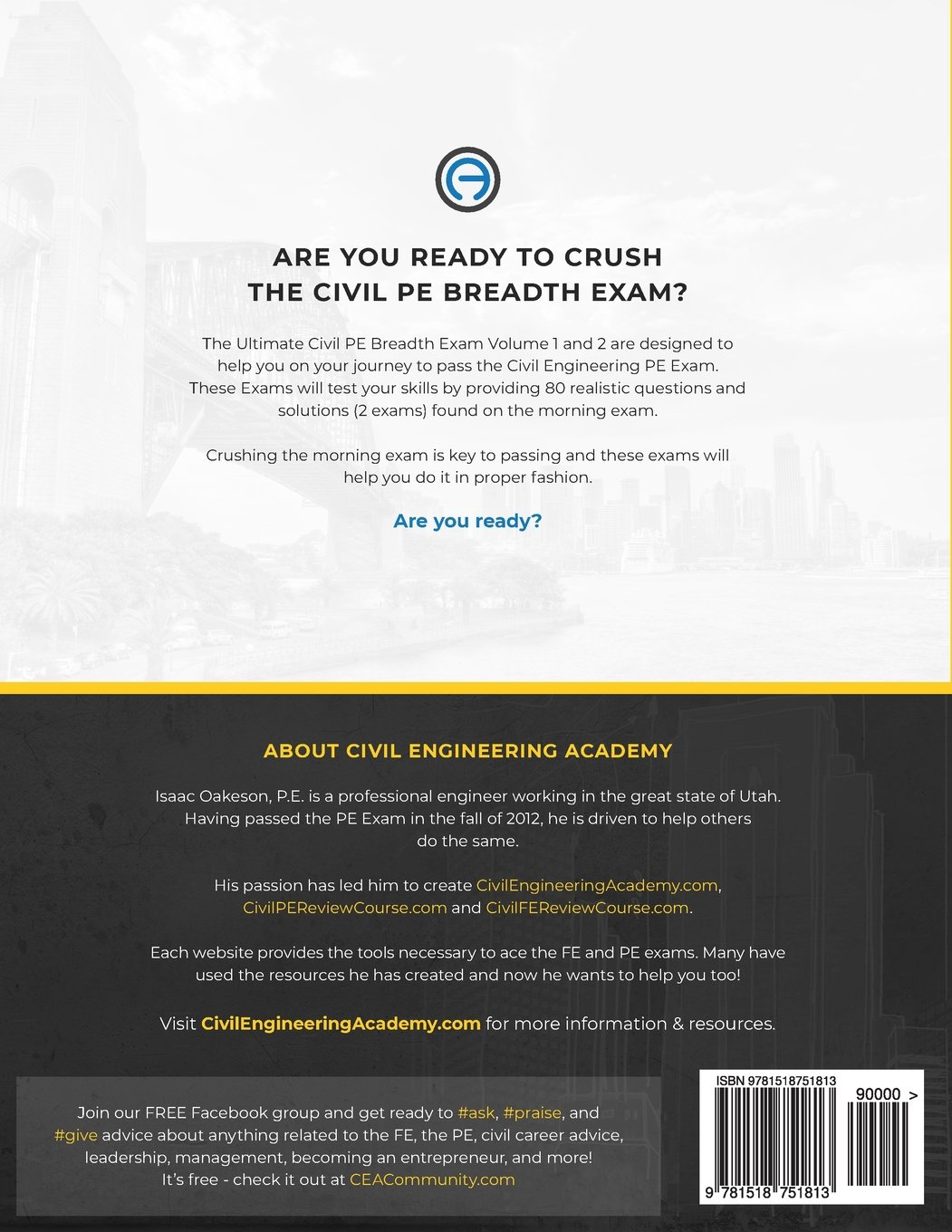 The Ultimate Civil PE Breadth Exam Volume 1 and 2: Helping you on your  journey to pass the PE!: Isaac Oakeson PE: 9781518751813: Amazon.com: Books