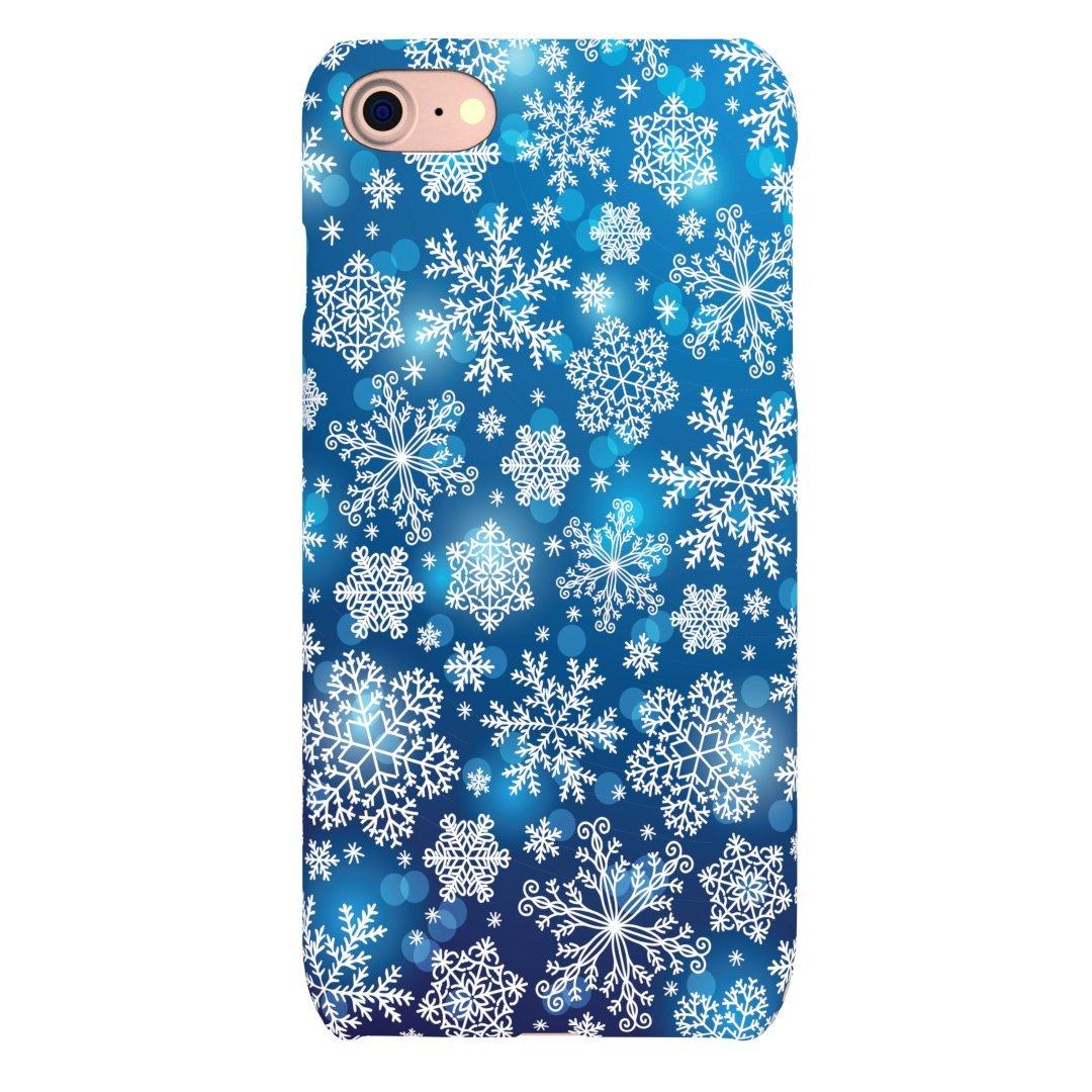 iPhone 5 / 5S / SE / 6 / 6S / 6 Plus + / 6S Plus + / 7/7 Plus + / Xケースカバー(iPhone 5 / 5S / SE)用クリスマススノーフレークウィンターシーズンキラキラとデザインハードスナップオン   B07848DSFN