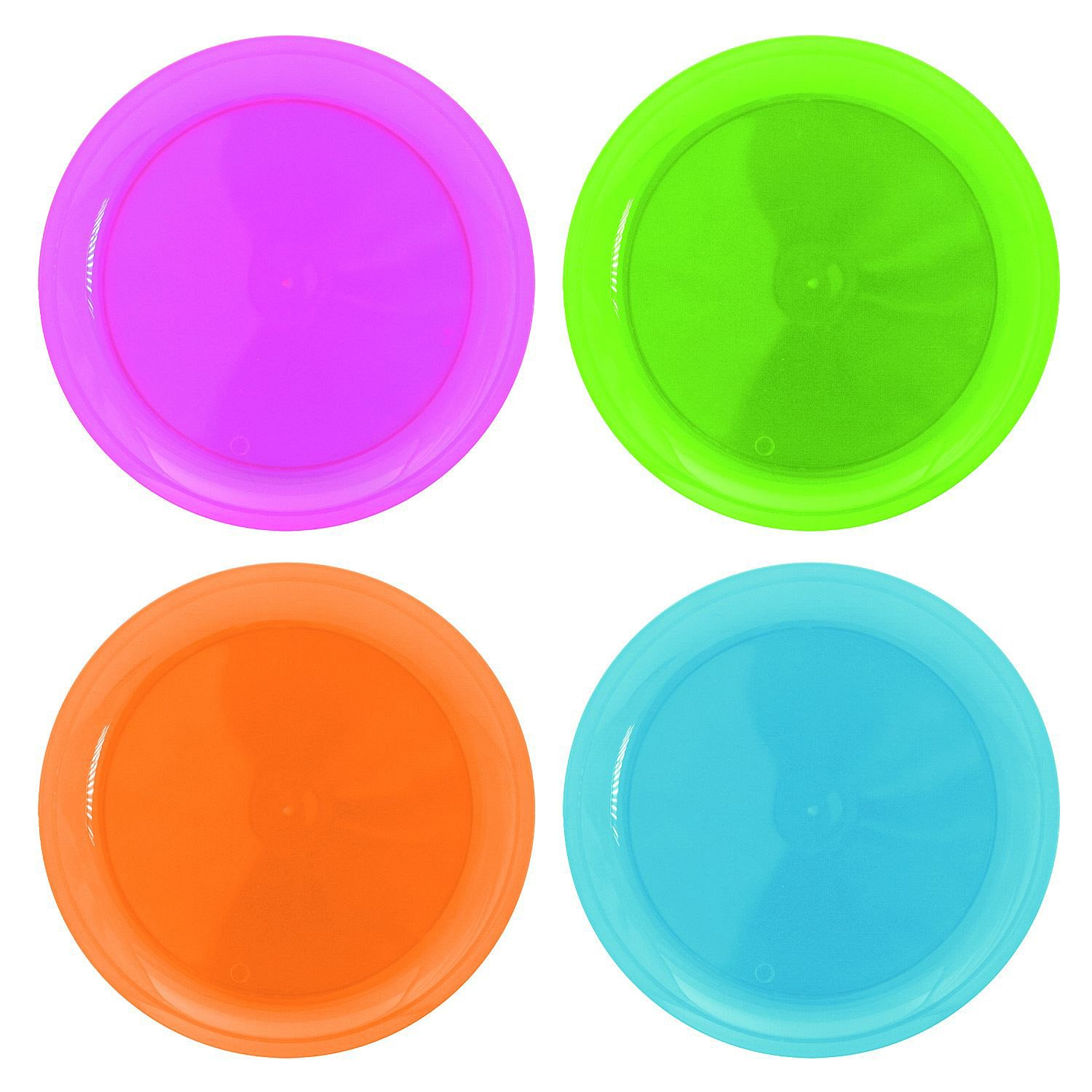 Amazon.com Party Essentials Hard Plastic 10.25-Inch Party/Dinner Plates Assorted Neon 20-Count Childrens Party Plates Kitchen \u0026 Dining  sc 1 st  Amazon.com & Amazon.com: Party Essentials Hard Plastic 10.25-Inch Party/Dinner ...