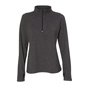 Boxercraft Womens Quarter-Zip Practice Pullover (S90) -CHARCOAL -XL