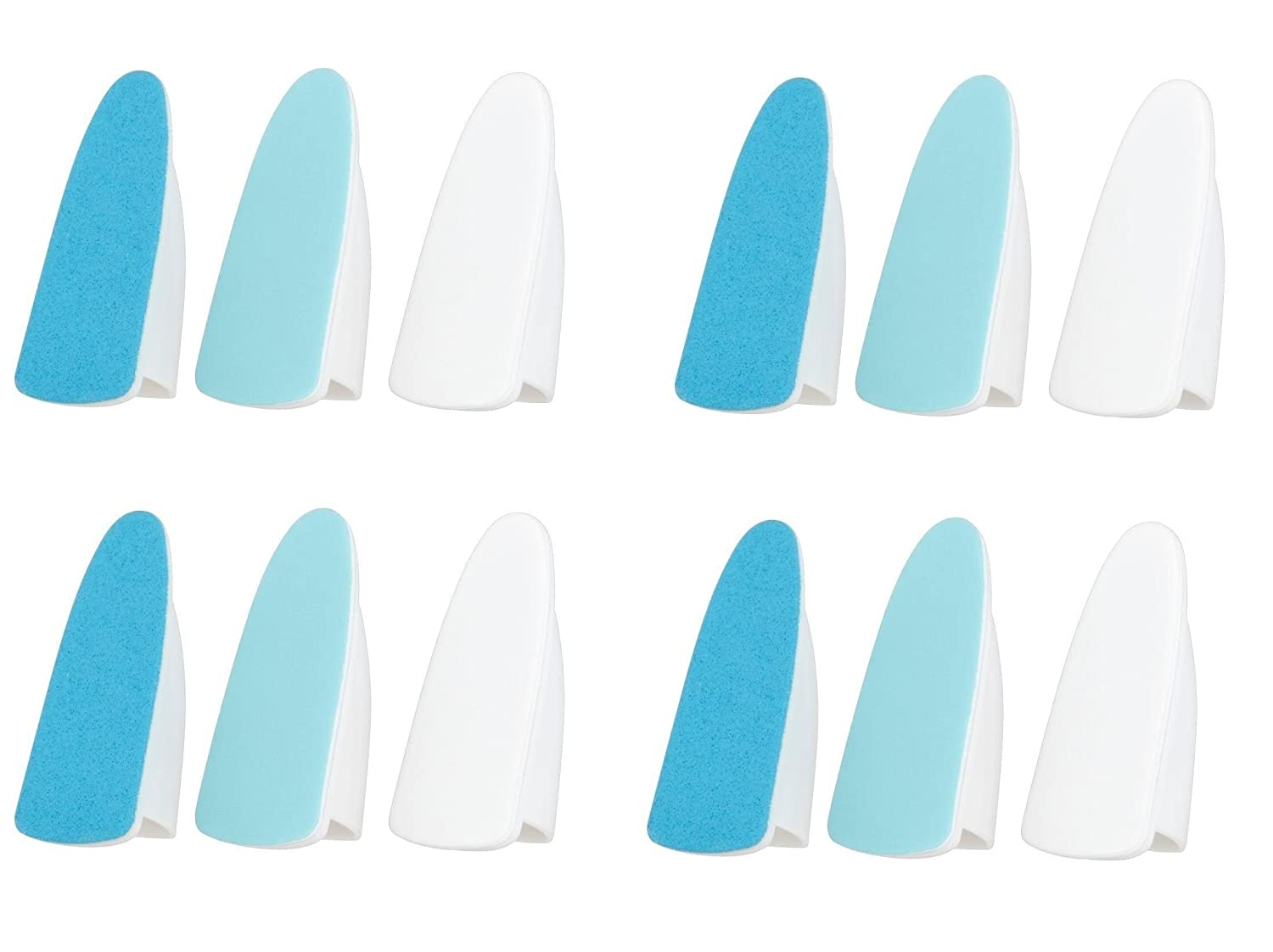 Electronic Nail Care System 12x Heads File Shine compatible with Scholl Velvet Smooth Essentials 4 You Ltd