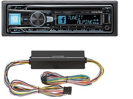 Amazon com: Alpine CDE-164BT in-Dash 1-DIN CD/MP3 Receiver with