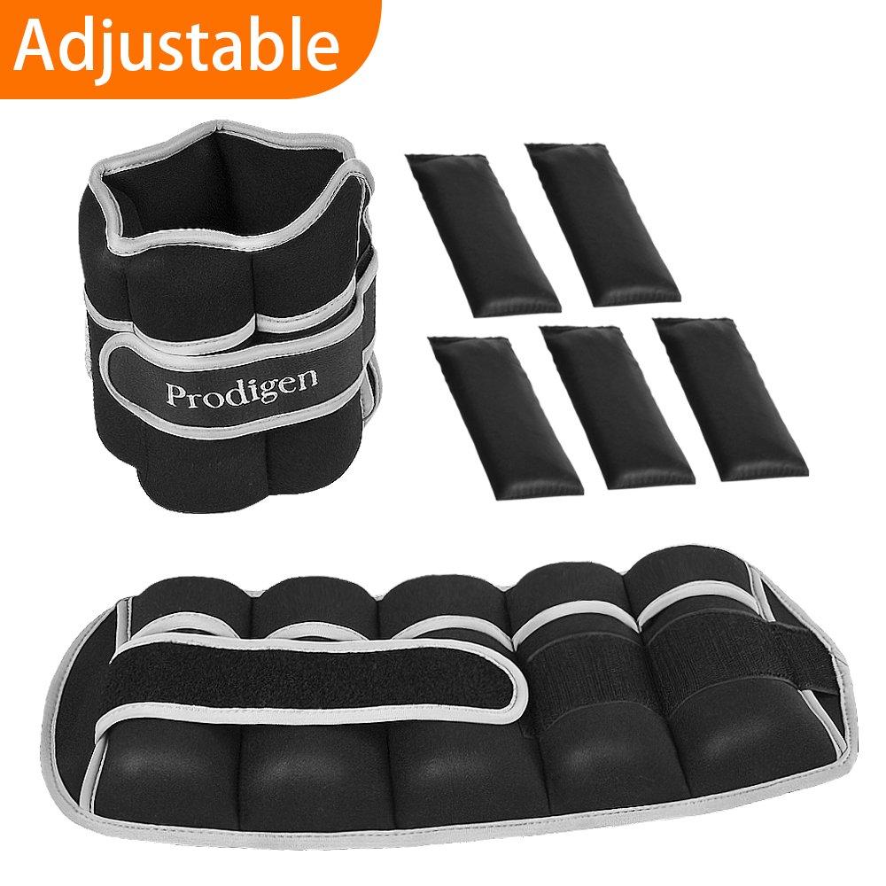 Prodigen Adjustable Ankle Weights Set for Men & Women Ankle Wrist Weight for Walking, Jogging, Gymnastics