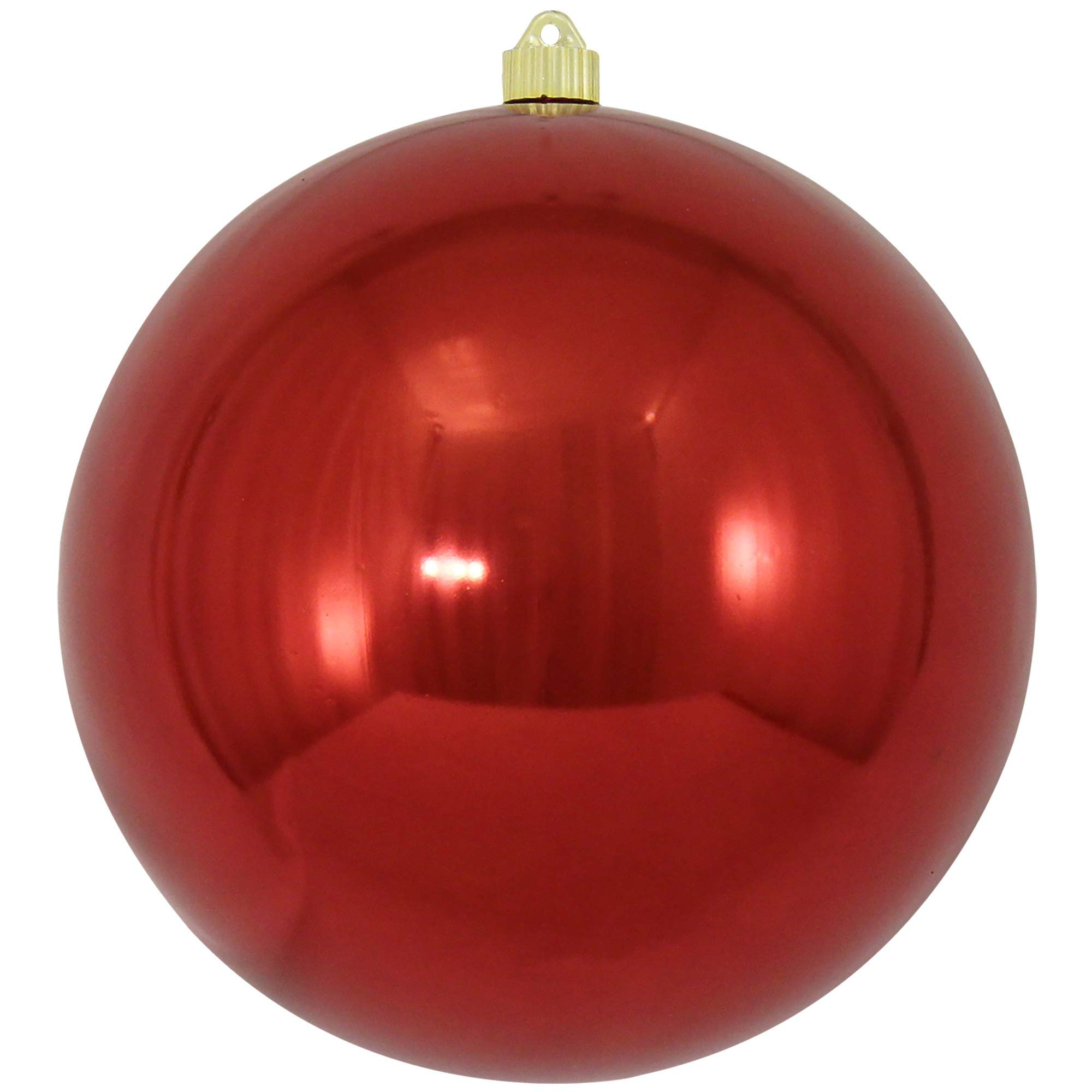 Christmas By Krebs CBK40519 Shatterproof UV-Resistant Christmas Ball Ornaments, Sonic Red, 10''