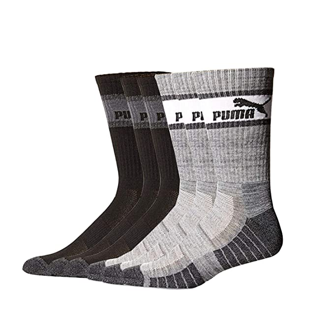 fd2ade852 Mens 6 Pair Puma Crew Socks at Amazon Men s Clothing store