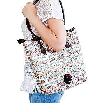Kenley vino bolso de mano bolso con oculta dispensador ...