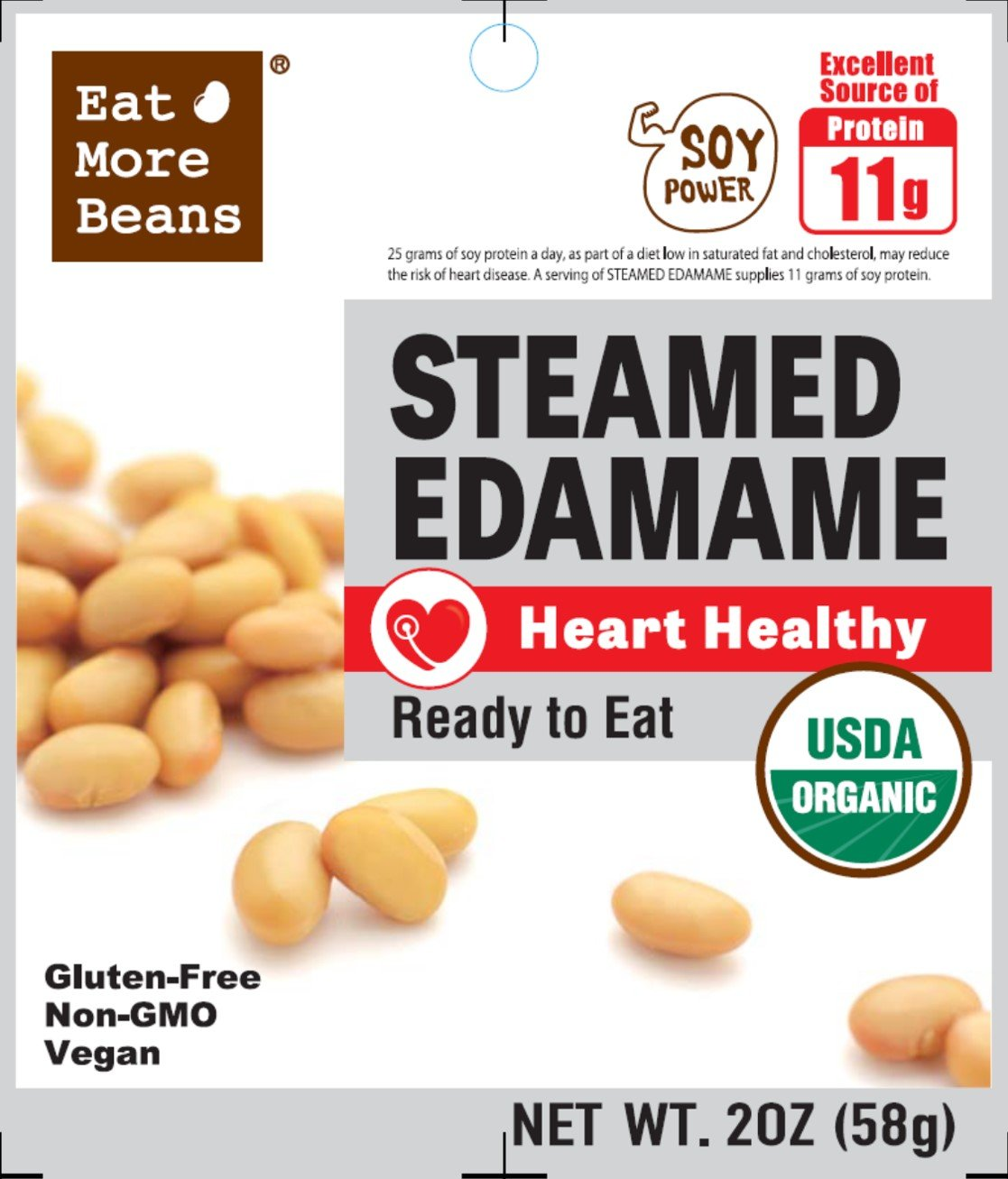 Steamed Edamame! A heart healthy Product! Ready to Eat at anytime!
