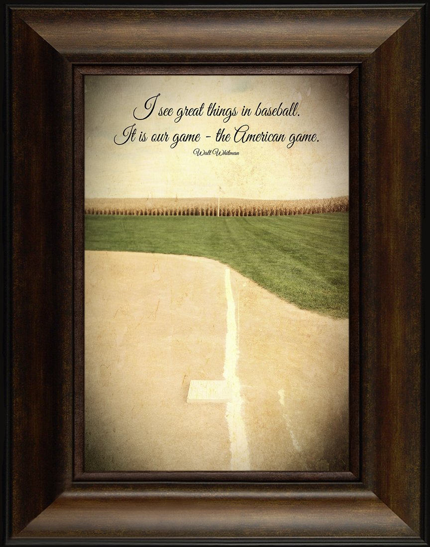 Amazon.com: The American Game By Todd Thunstedt 26x20 Baseball Ball ...