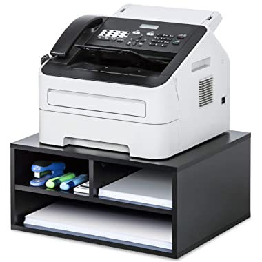 FITUEYES Printer Stands with Storage,Paper Organizer for Home & Office,Wood Desk Organizer,DO204701WB