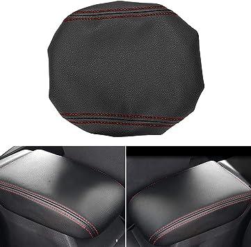 Mling Mittelkonsole Armlehnen Abdeckung Kompatibel Mit Golf 7 Mk7 2013 2020 Armlehne Schutz Rot Auto