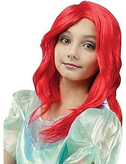Parrucche parrucche europei moda capelli rossi ricci sirenetta ariel ... aabf97b9bb5