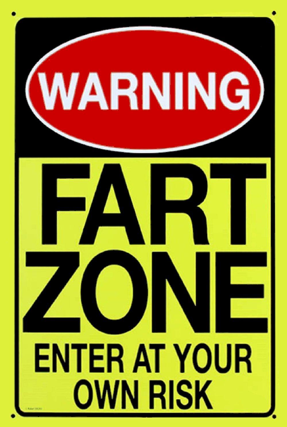 1 – 警告FartゾーンEnter At Your Own Riskプラスチックサイン – 6 1 / 2インチx 10インチ – 新しい B07BH54BWQ
