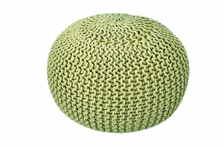 Grand 60 cm fait à la main en tricot Grosse Maille Pouf coton Pied Coussin  de tabouret pouf marocain  Amazon.fr  Cuisine   Maison 75a42174161