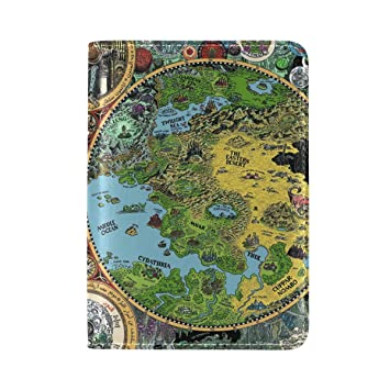 Amazon.com | The Lands Of Dream Map Dreamlands PU Leather ... on alexandria map, eclipse map, love map, america map, fiction map,
