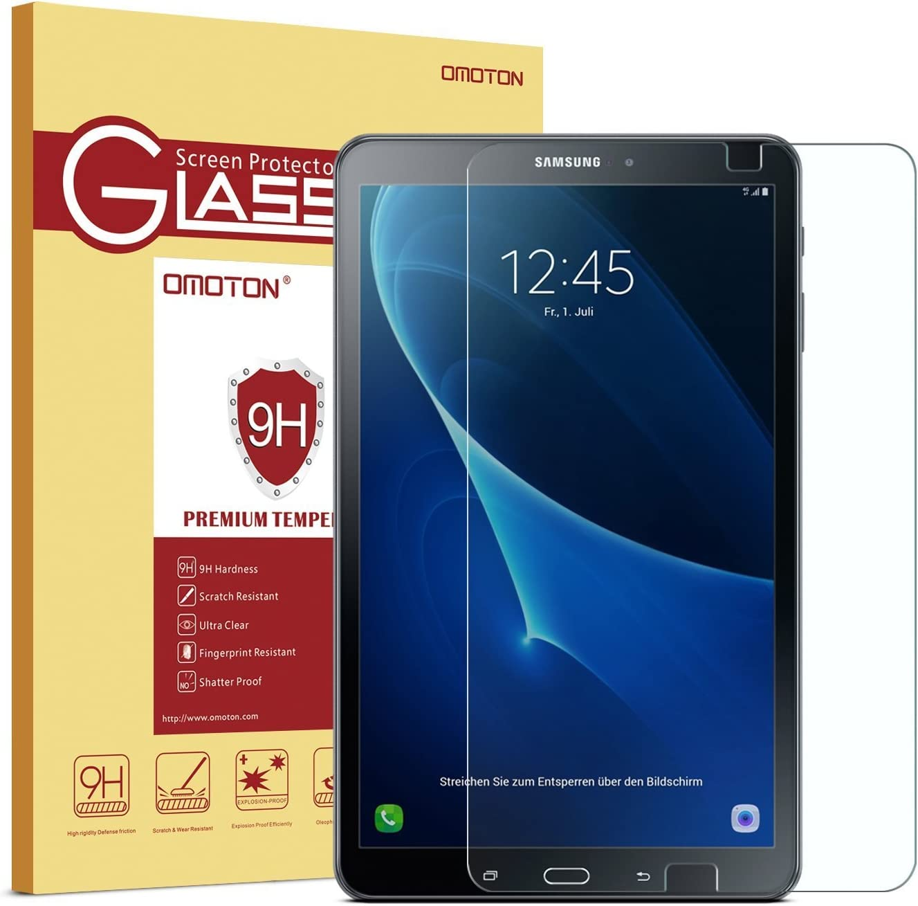"""10.01/"""" 5 Pack Clear Tablet Screen Protector Guard For  Samsung Galaxy Tab"""