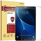 OMOTON Panzerglas Schutzfolie für Samsung Galaxy Tab A 10.1, mit [2.5D abgerundete Kanten ] [9H Härte] [Kristall-klar [kratzfest] [Luftbläschen-frei][lebenlange Garantie]
