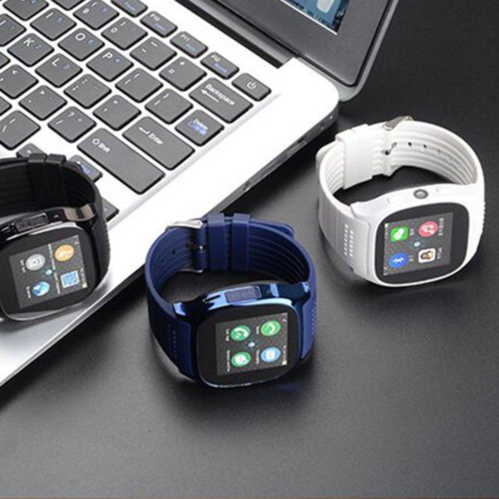 GEZICHTA T8 Smart Watches Soporte Tarjeta SIM & TF con Cámara Sincronización Mensaje de Llamada Hombres Mujeres Reloj Inteligente Bluetooth para Android, ...