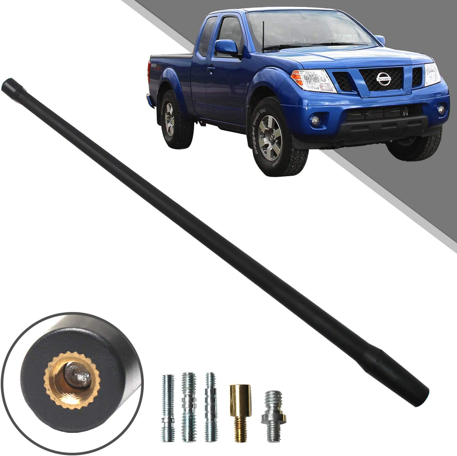4.8 Inches TEKK Short Antenna Replacement for Ford F150 2009-2020 Designed for Optimized FM//AM Reception