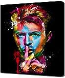 Pingoo Prints David Bowie 11-Modern Wall Picture Art Print, Canvas, Multi-Colour, 60 x 90 x 5 cm