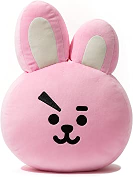 BT21 Official Merchandise by Line Friends - Cooky Decorative Throw Pillows Cushion, 16.5 Inch