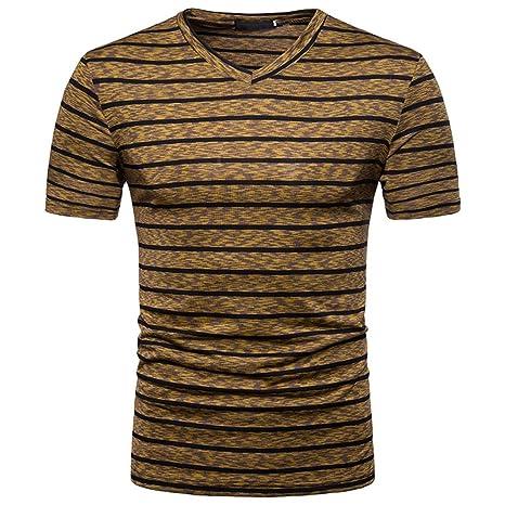 9bb40be253d9c Tee Shirts Hommes, Sonnena Promotion d'ét Nouveau Style Personnalité V Col  Concis Sexy