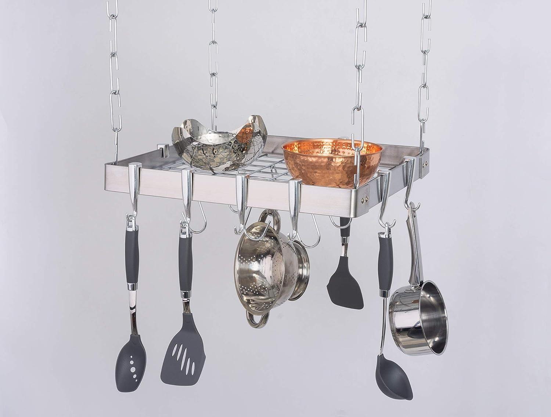 Concept Housewares Half Round Stainless Steel Wall Kitchen Rack