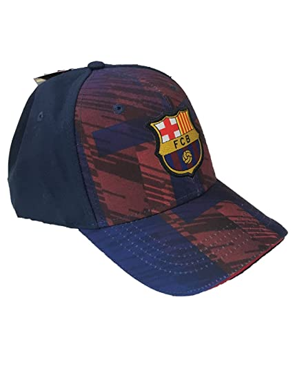 Gorra oficial F.C. Barcelona bordado modelo Square Blaugrana Barcelona 100% poliéster talla adulto