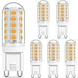 Luma G9 Bombillas LED regulables, luz blanca cálida 2700 K, 5 W