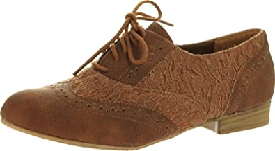 Not Rated Womens Cover Page Oxford Flats Shoes a2709f23501e