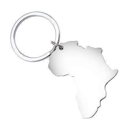 Fanery Sue Map of Africa Llavero personalizado con nombre y ...