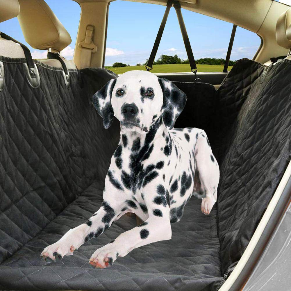 Cars Seat Belt Openings 2 Seat Belt Trucks and Suvs Luxury Full Protector EVELTEK Dog Car Seat Cover Waterproof Non-Slip Hammock Convertible for Your Pet Machine Washable w//Extra Side Flaps