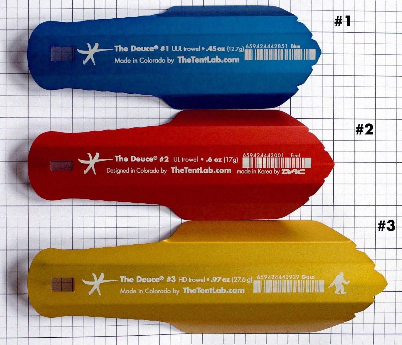 R Sky, 3 Now in 3 Sizes Ultralight Backpacking Potty Trowel TheTentLab New Improved Deuce