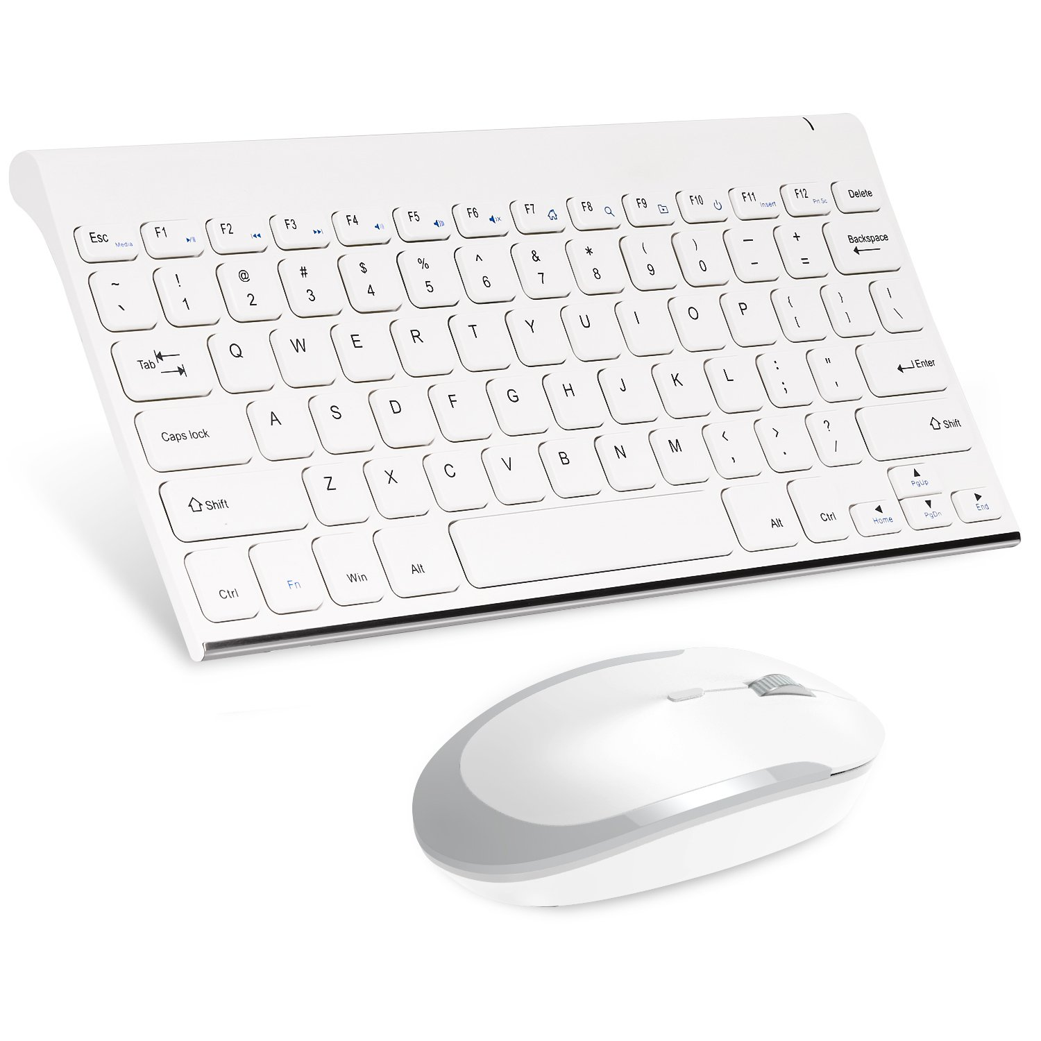 3f4c71cd1ec Amazon.com: MoKo Wireless Keyboard and Mouse, 2.4G Mini Small Rechargeable Keyboard  Mouse Combo for Computer, Laptop, Desktop, PC, Compatible with Windows ...