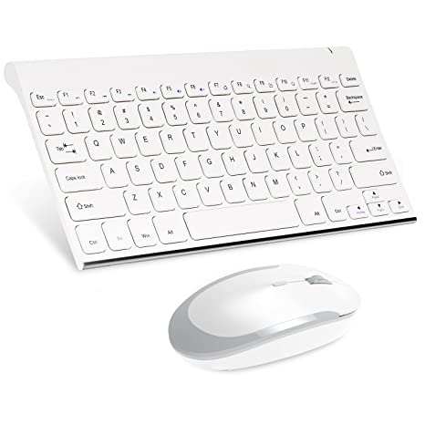 3f1f79e24cc MoKo Wireless Keyboard and Mouse, 2.4G Mini Small Rechargeable Keyboard  Mouse Combo for Computer