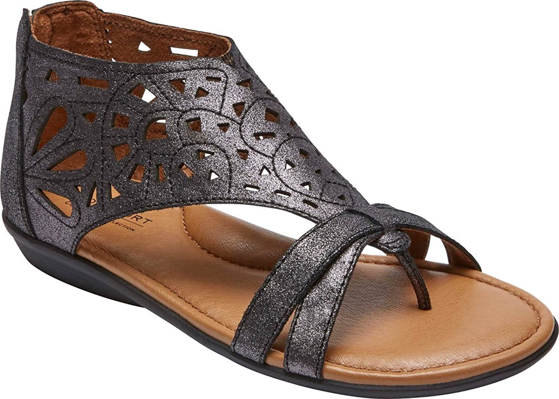 aae682e7e30103 chic Rockport Cobb Hill Collection Women s Cobb Hill Jordan Dark Pewter  Sandal