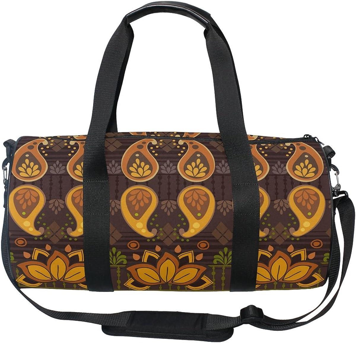 AHOMY Canvas Sports Gym Bag Africa Art Nation Custom Duffel Bag Travel Shoulder Bag