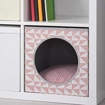 ik Ikea Lurvig - Caseta para gatos con cojín, rosa, 33 x 38 x ...