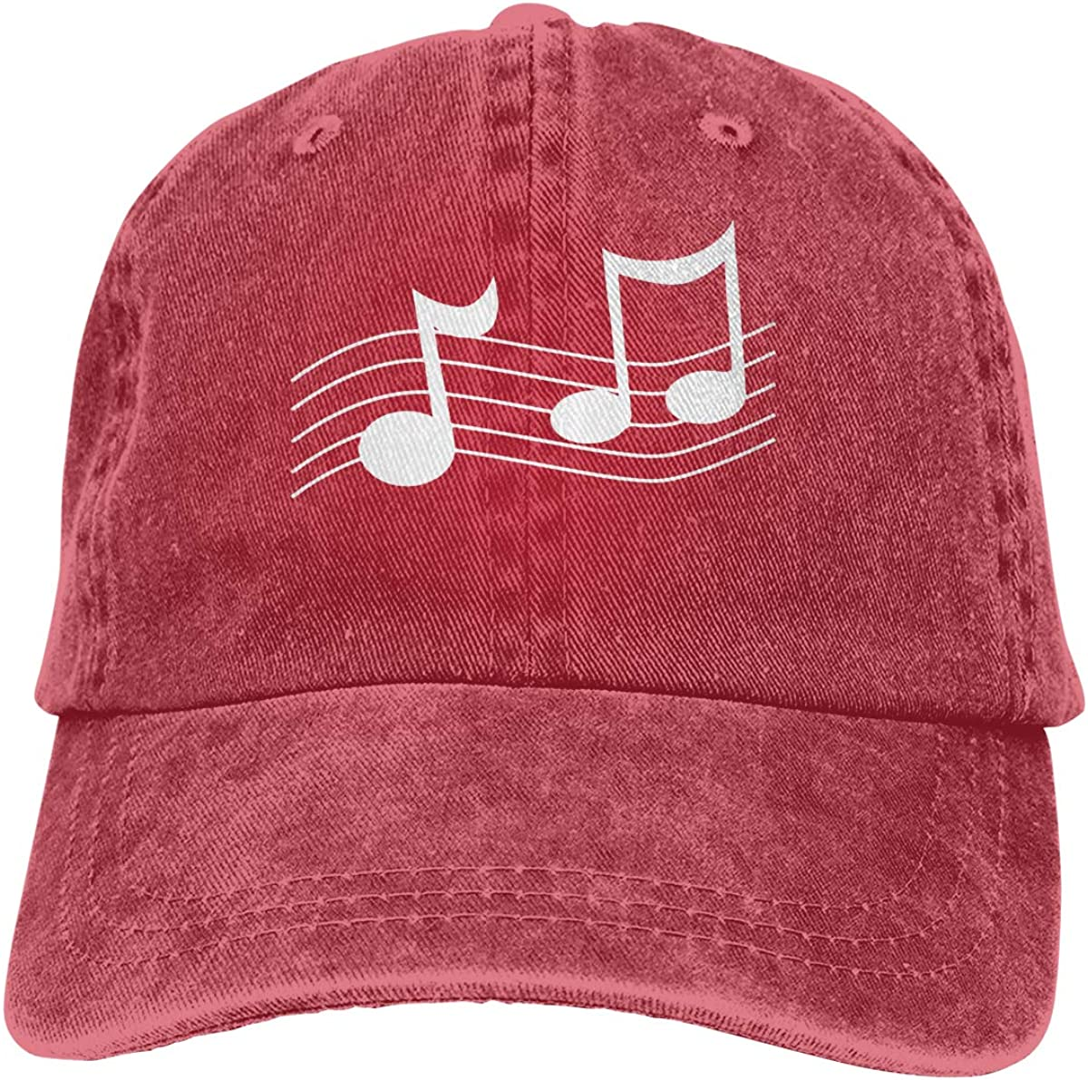 Minimal Music Notes Unisex Adult Cowboy Hat Outdoor Sports Hat Adjustable Truck Driver Hat